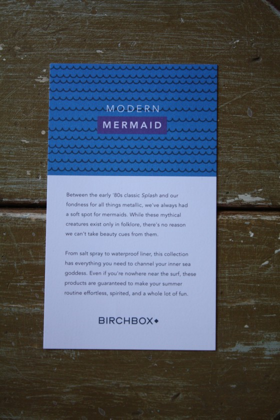 BirchBox Limited Edition Modern Mermaid Contents Card
