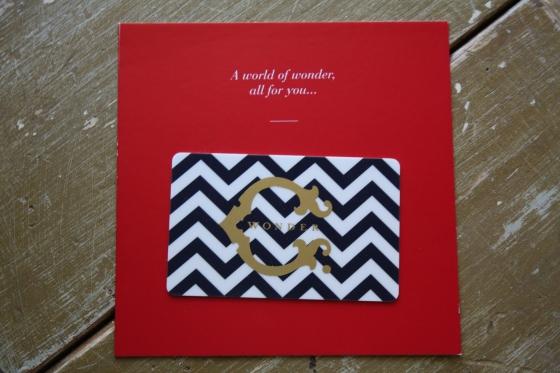 GlossyBox June 2014 Bx CWornder Gift Card