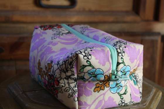 Etsy Benefit and bless Lovely Floral Zippered Box Pouch