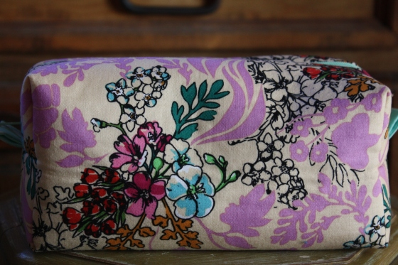 Lovely Floral Zippered Box Pouch Benefit and Bless