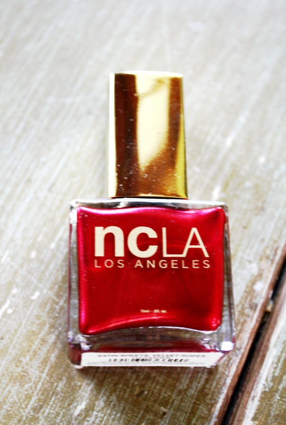 NCLA Nail Lacquer in Satin Sheets, Velvet Ropes