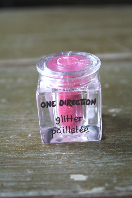One Direction's New Sparkle Nail Art Glitter in the color   Not Afraid