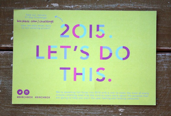 January 2015 BirchBox Theme