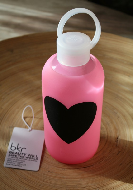 Limited Edition Bambi Heart BKR Glass Water Bottle