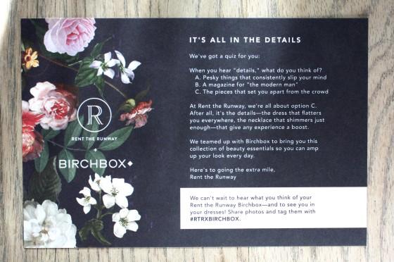 BirchBox February 2015 Box Reveal  Theme Card