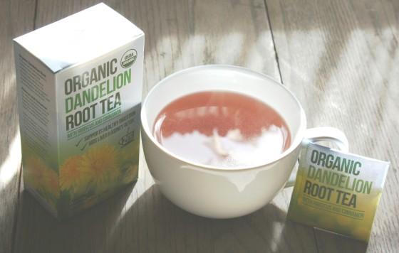 Kiss Me Organics USDA Organic Dandelion Root Tea with   Hibiscus and Cinnamon