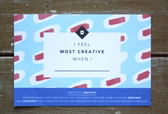 BirchBox March 2015 Theme Card