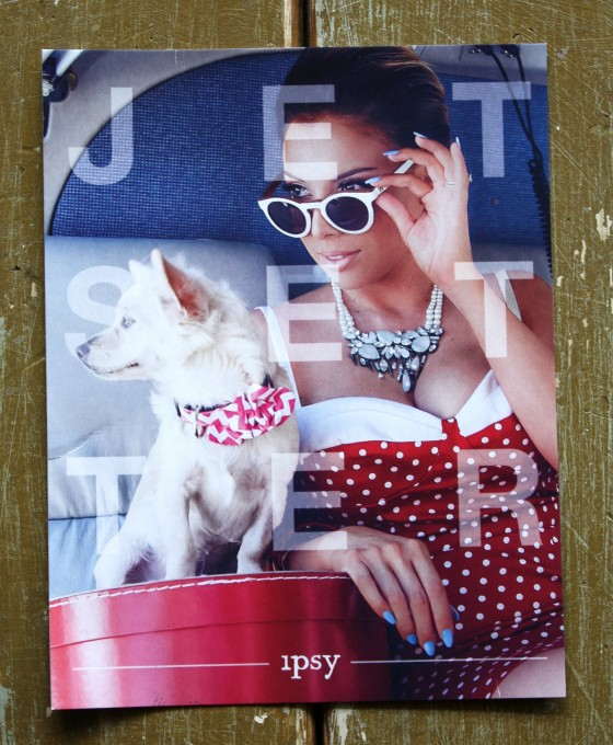 Ipsy May 2015 Bag Jet Setter Theme Card