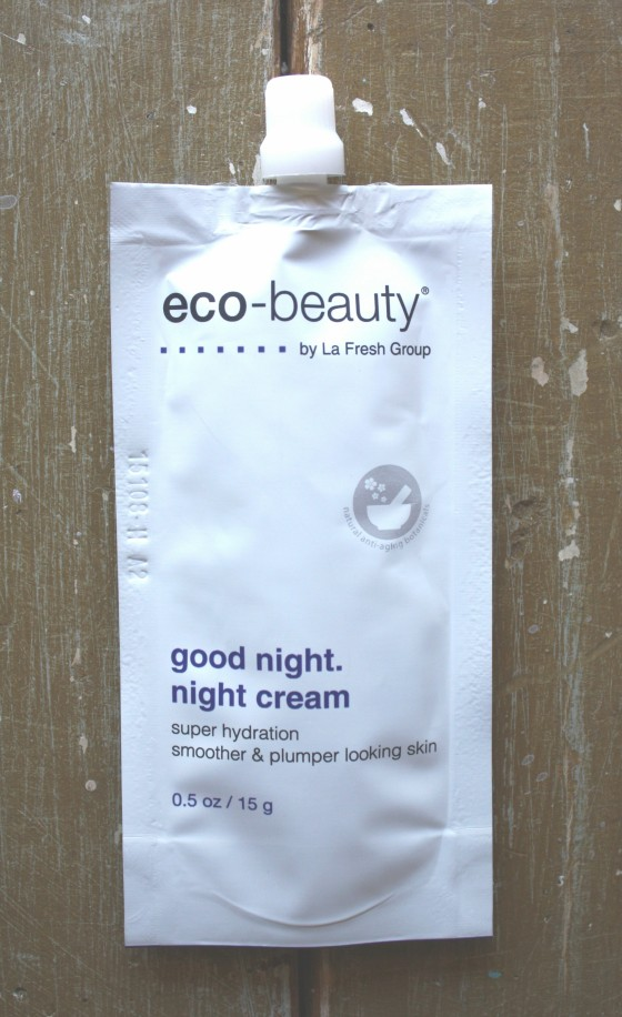 Ipsy August 2015 Bag Reveal Eco-Beauty By La Fresh Group Good Night Night Cream