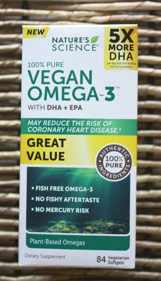 Nature's Science 100 % Pure Vegan Omega -3 with DHA + EPA