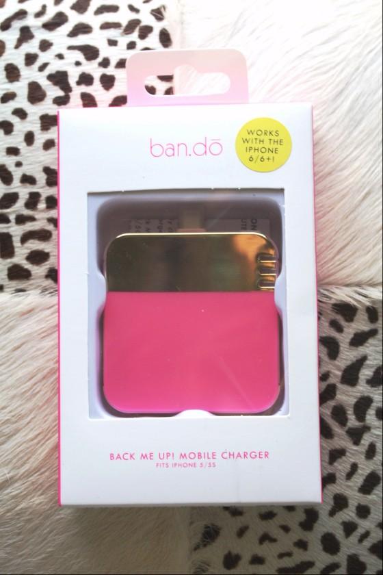 BirchBox Plus September 2015 Ban.do Back Me Up Mobile Charger