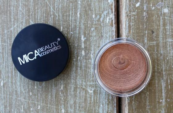 Ipsy October 2015 Bag Reveal Mica Beauty Cosmetics Cream Eye Shadow in Bronze