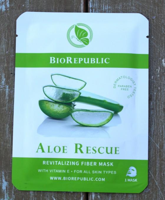 Birchbox November 2015 Box Reveal Biorepublic Skincare Aloe Rescue Revitalizing Fiber Sheet Mask
