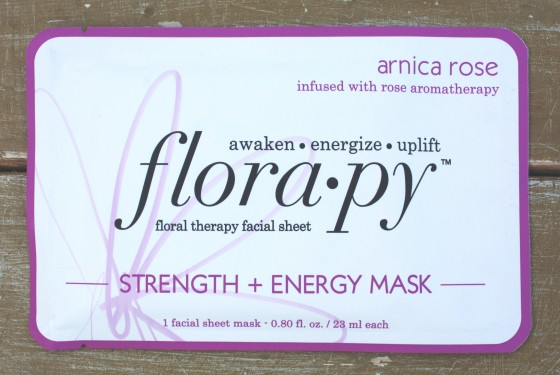Glossybox November 2015 Box Flora.py Floral Therapy Facial Sheet