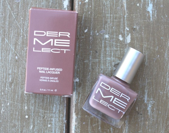 Ipsy November 2015 Bag Reveal Dermelect Peptide infused Nail Lacquer in Commando