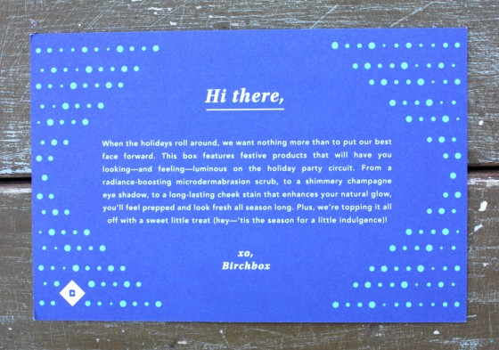 Birchbox December 2015 Box Reveal Product Card