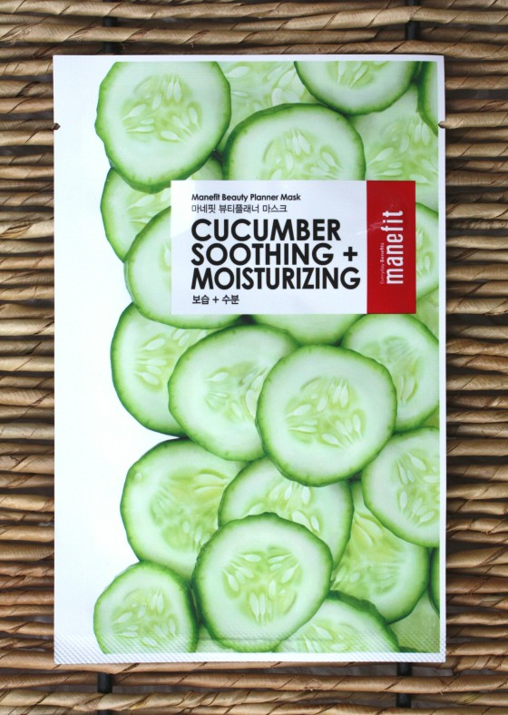 Birchbox January 2016 Box Reveal Manefit Beauty Planner Cucumber Soothing and Moisturizing Mask