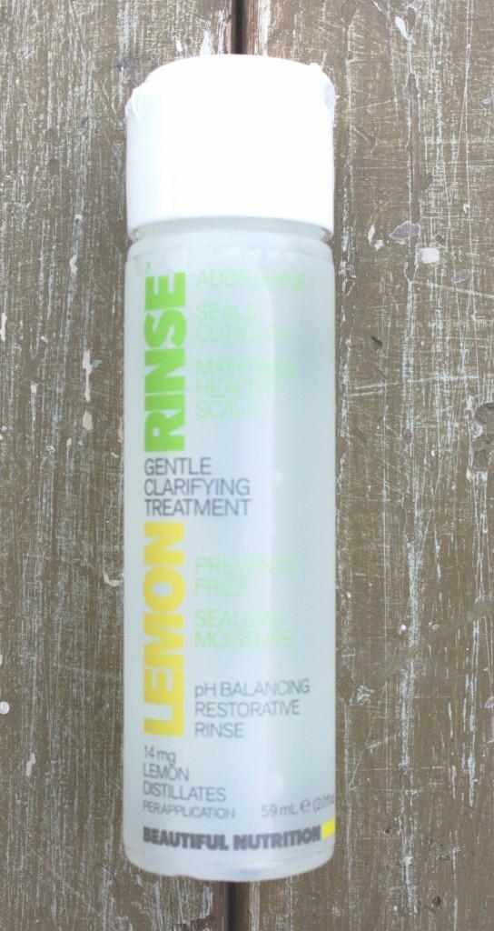 Glossybox January 2016 Box Beautiful Nutrition Lemon Rinse Gentle Clarifying Treatment
