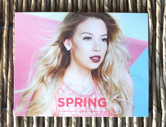 Ipsy March 2016 Bag Theme Card