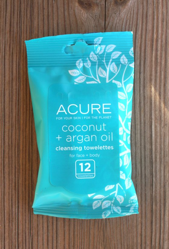 Birchbox August 2016 Edition Acure Coconut and Argan Oil Cleansing Towelettes