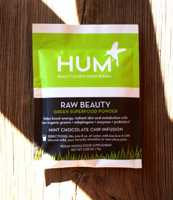 Birchbox August 2016 Edition HUM Nutrition Raw Beauty Green SuperFood Powder